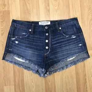 Abercrombie and Fitch high rise jean shorts